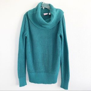 Alloy Teal Cowl Neck Sweater Sz Large
